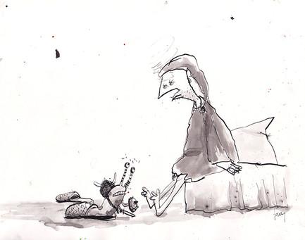 Kampschnecke in Pantoffel