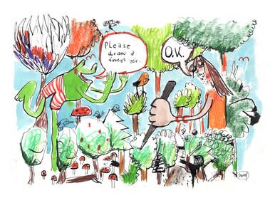 Frosch will Wald