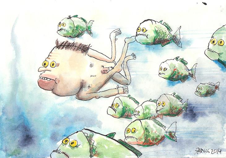 Großgezogen von Piranhas