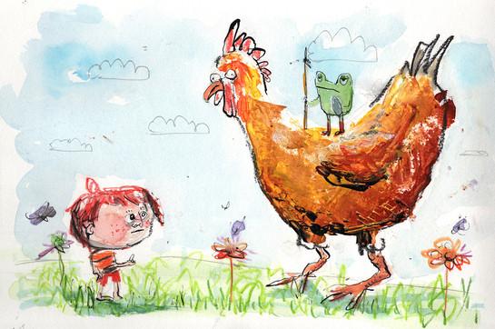 Abenteuer mit Huhn