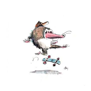 Moles like to skate too.