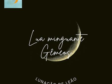 Lunação de leão: a lua minguante em gêmeos