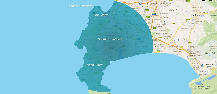 Areas serviced in Cape Town