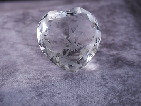 Crystal Leaf Heart