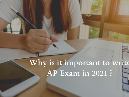 Why is it important to take the AP exam in 2021?