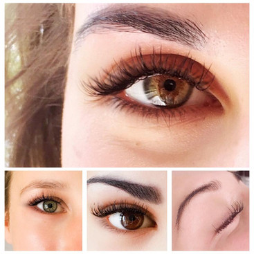Different styles of lash extensions