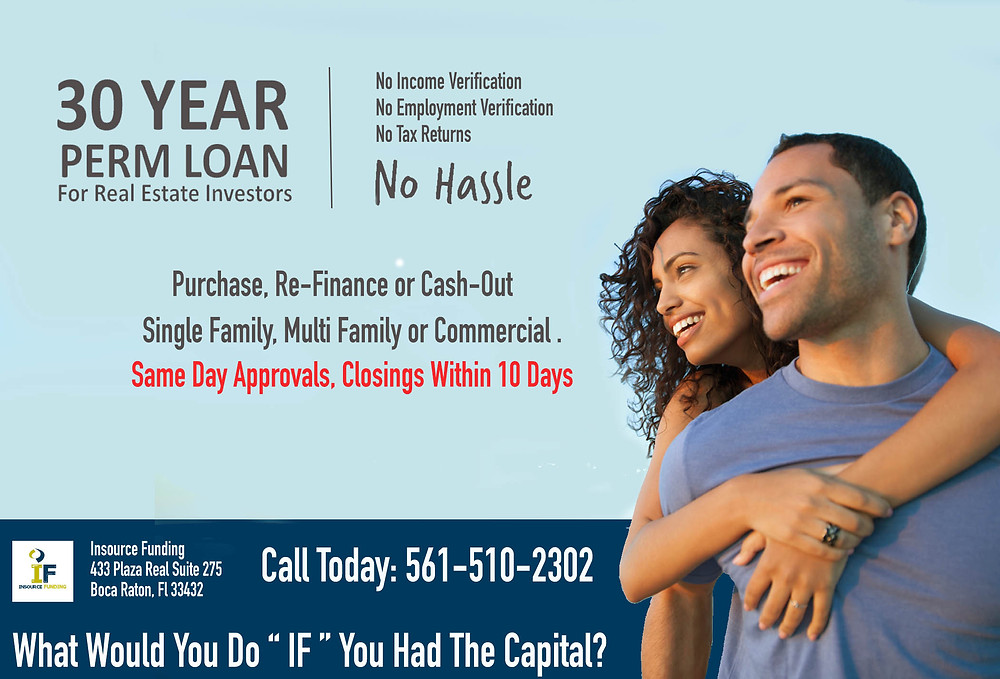 Insource Funding 30 Year No Hassle Rental Loan