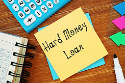 Hard Money Loan sign on the piece of pap