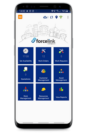 Forcelink Field Service Management Software in a smart device