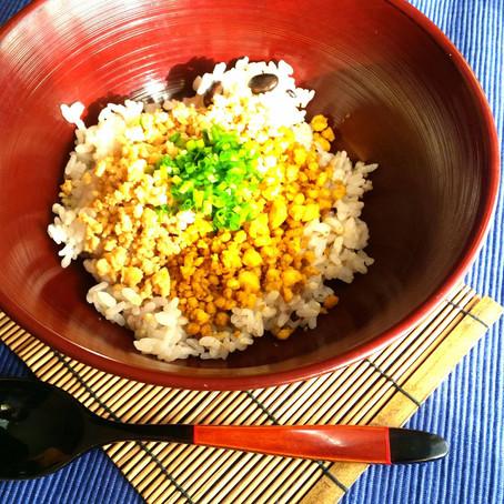 五穀米に合う二食豆腐そぼろ