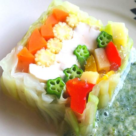 とうふと野菜の寒天テリーヌ