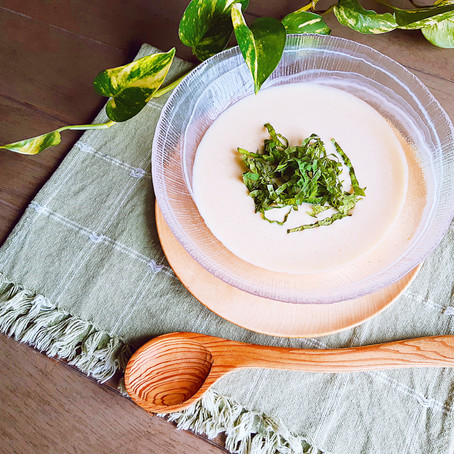 ミキサーいらず・簡単 豆乳の和風ヴィシソワーズスープ