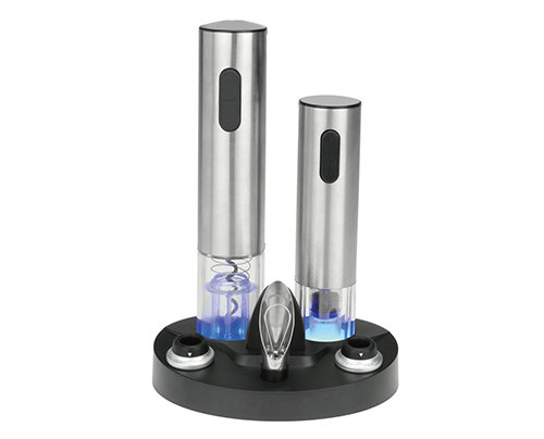 Metal Electric Wine Opener Set With Charger Cradle - KP-1106