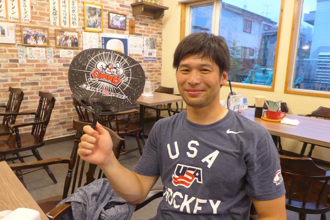日本製紙クレインズ上野選手がご来店されました!
