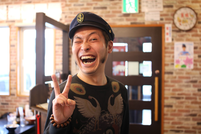 STV「ブギウギ専務」のウエスギ専務がご来店!