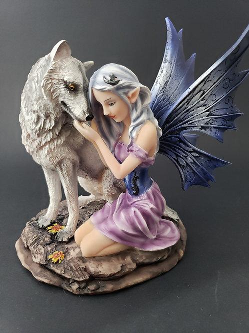 Fairy Wolf Statue