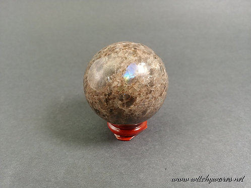 Brown Larvakite Sphere