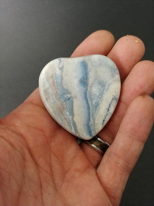 Blue Scheelite Heart