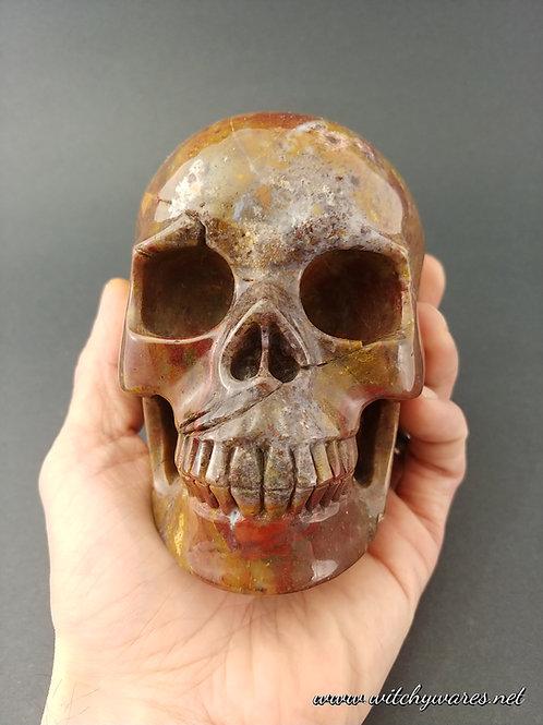 Green Opal Skull