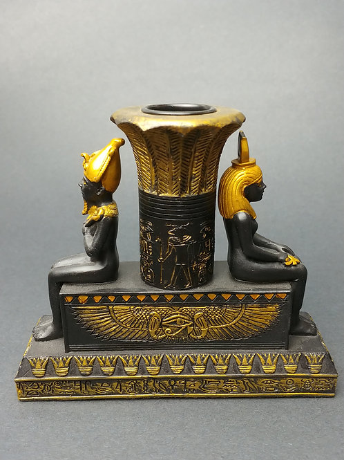Osiris and Isis Candle Holder
