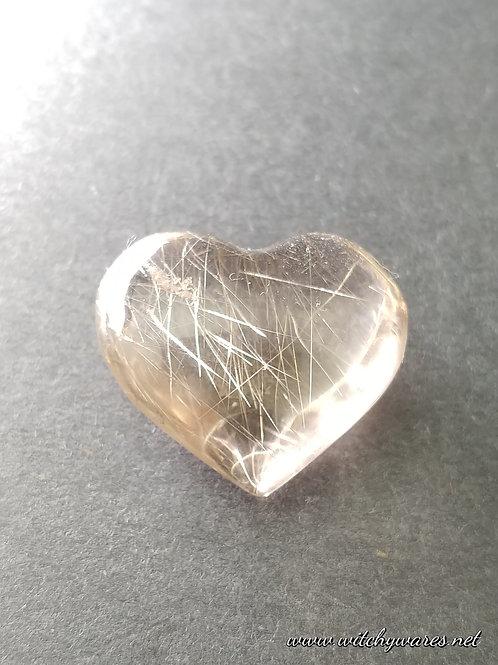Rutilated Quartz Heart