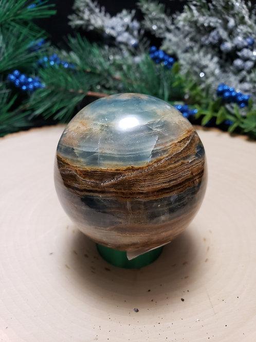 Aquatine Lemurian Calcite Sphere