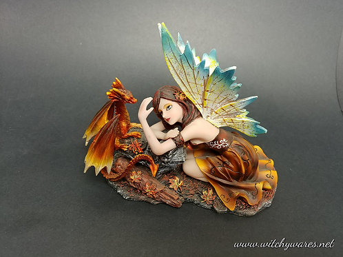 Fairy with Dragon Statue