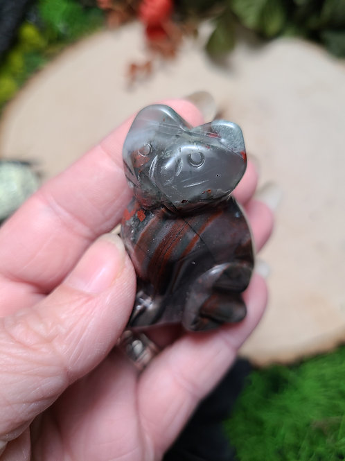 """2"""" Custom Carved Stone Cats"""
