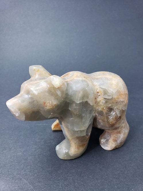 Aquatine Lemurian Calcite Bear