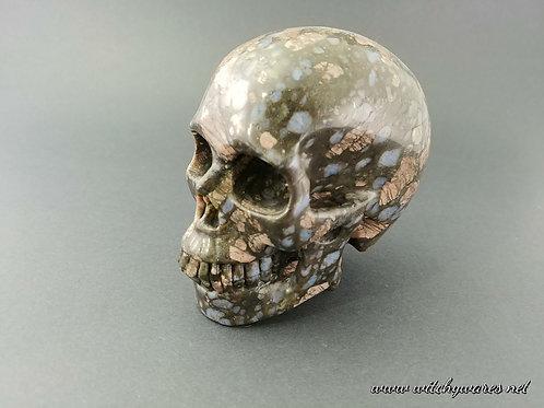 Blue Opal Skull