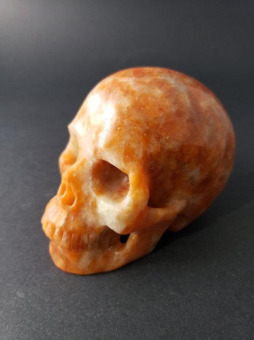 Orange Calcite Skull