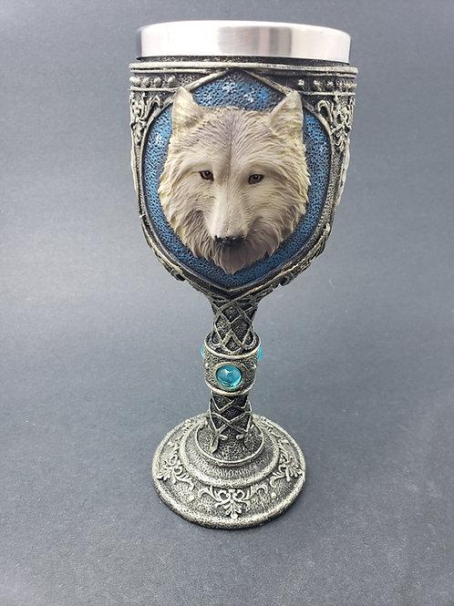 Blue Wolf Goblet