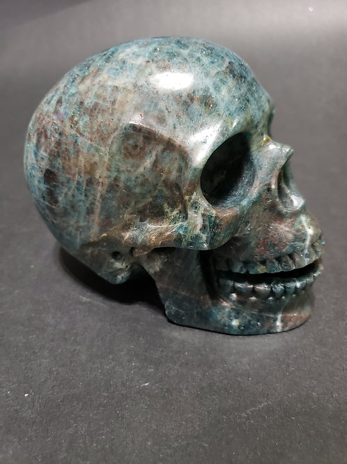 Blue Apatite Singing Skull