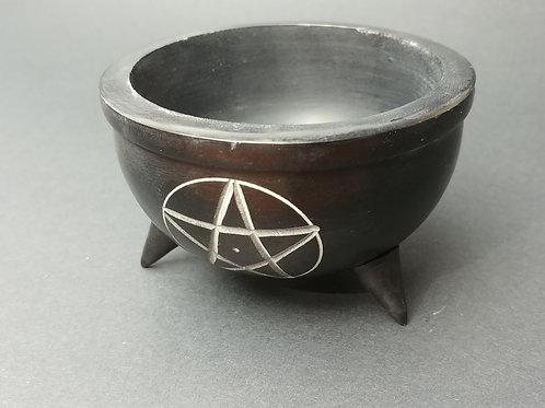 Pentacle Soapstone Incense Burner