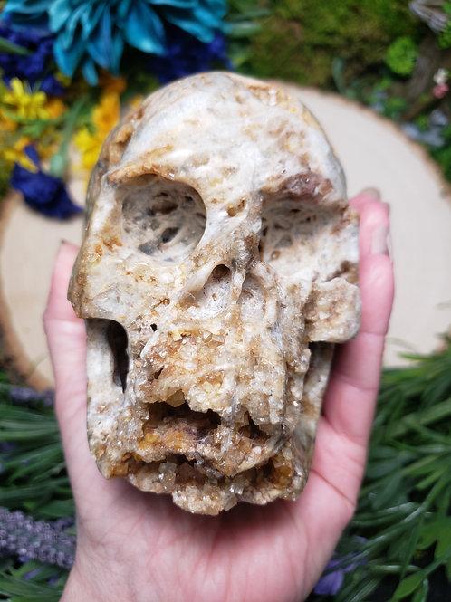 Fluorite Geode Skull