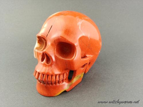 Brecciated Jasper Skull