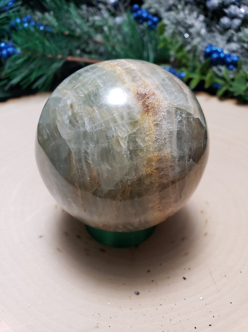 Aquatine Lemurian Calcite Sphere
