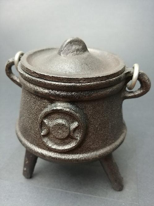 Cast Iron Triple Goddess Cauldron