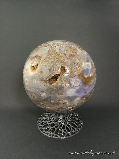 Violet Flame Agate Sphere