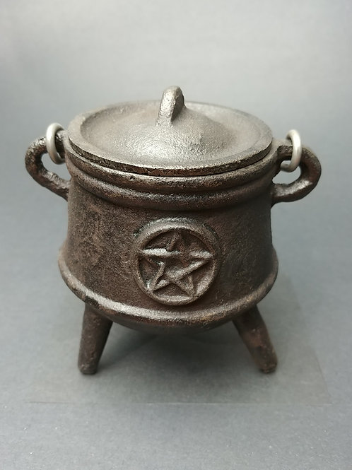 Cast Iron Pentacle Cauldron