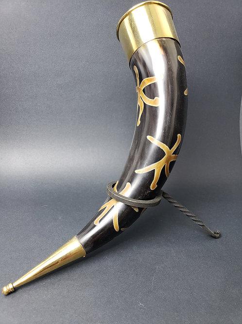 Brass Plated Drinking Horn