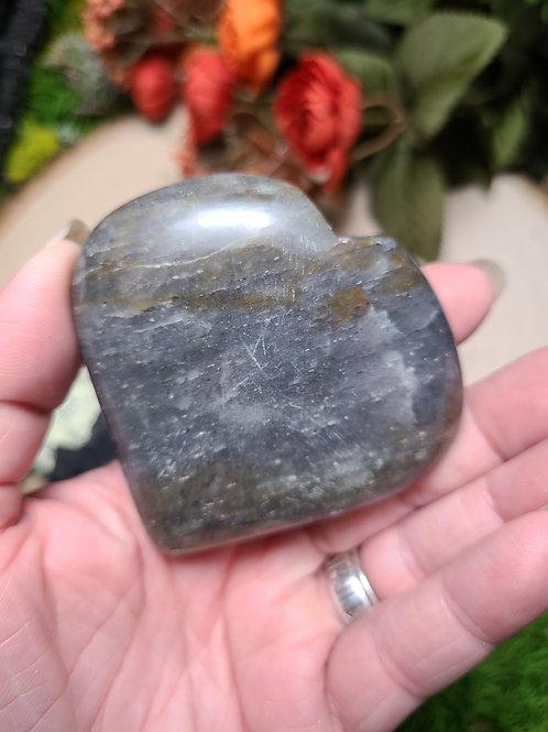 Black Sunstone Heart