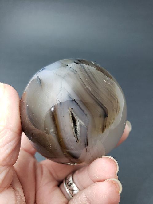 Dendritic Agate Sphere