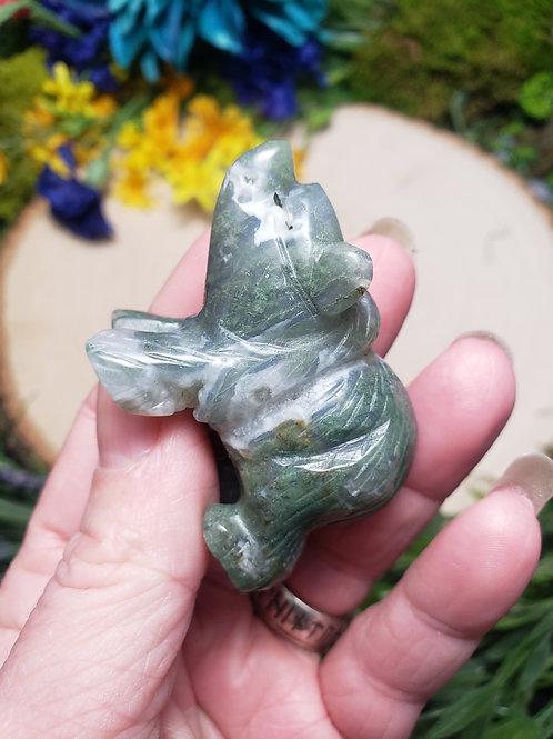 Moss Agate Bear