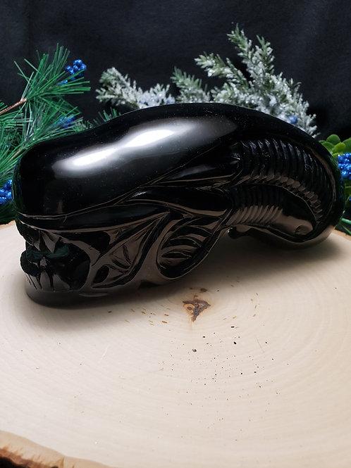 Obsidian Xenomorph Skull