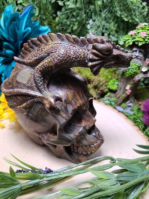 Bamboo Fossil Dragon Skull