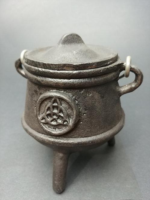 Cast Iron Triquetra Cauldron