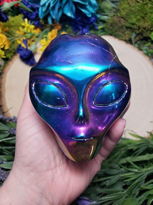 Aura Quartz Alien Skull