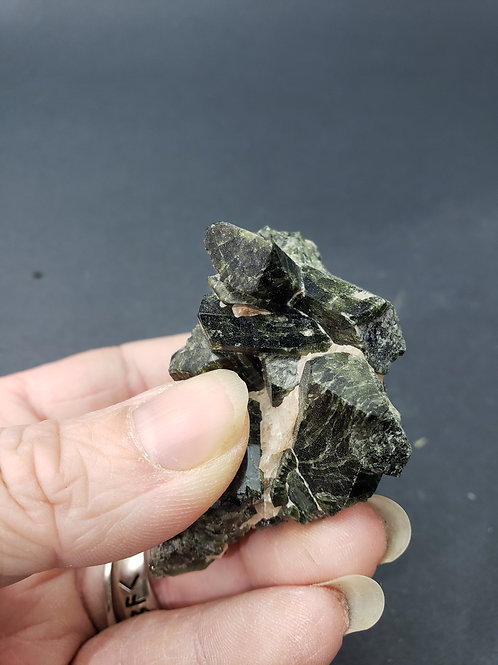 Chrome Diopside Cluster