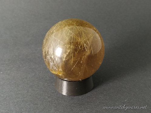 Rutilated Quartz Sphere